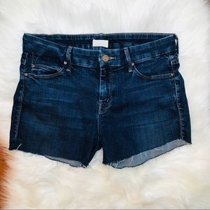 MOTHER Denim Cut Off Frayed Shorts 29